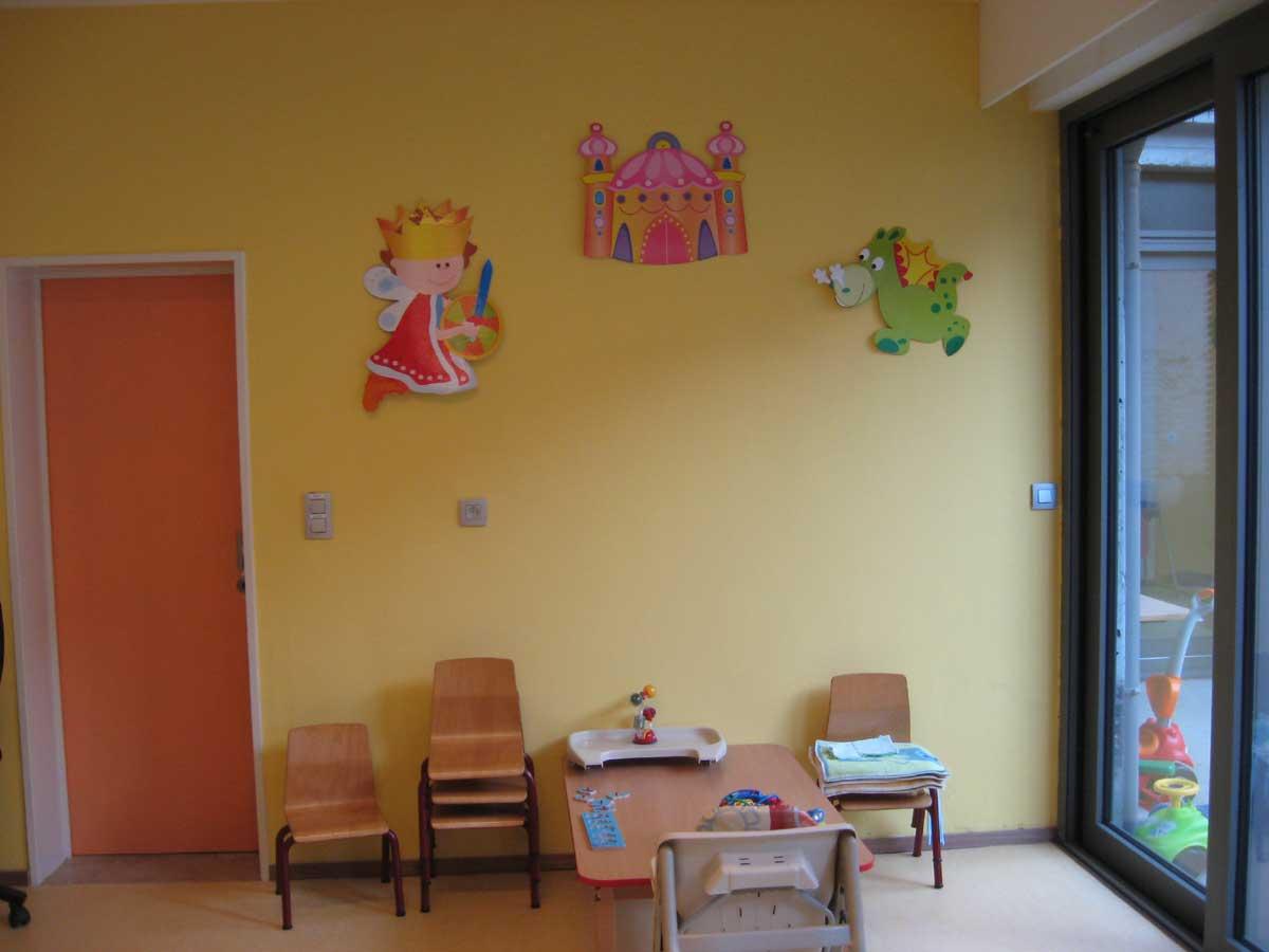 Speelruimte peuters Kinderdagverblijf Chipollino - Kinderopvang centraal in Antwerpen bij Rooseveltplaats. Groepsopvang, mini-creche, met ecologische luiers.