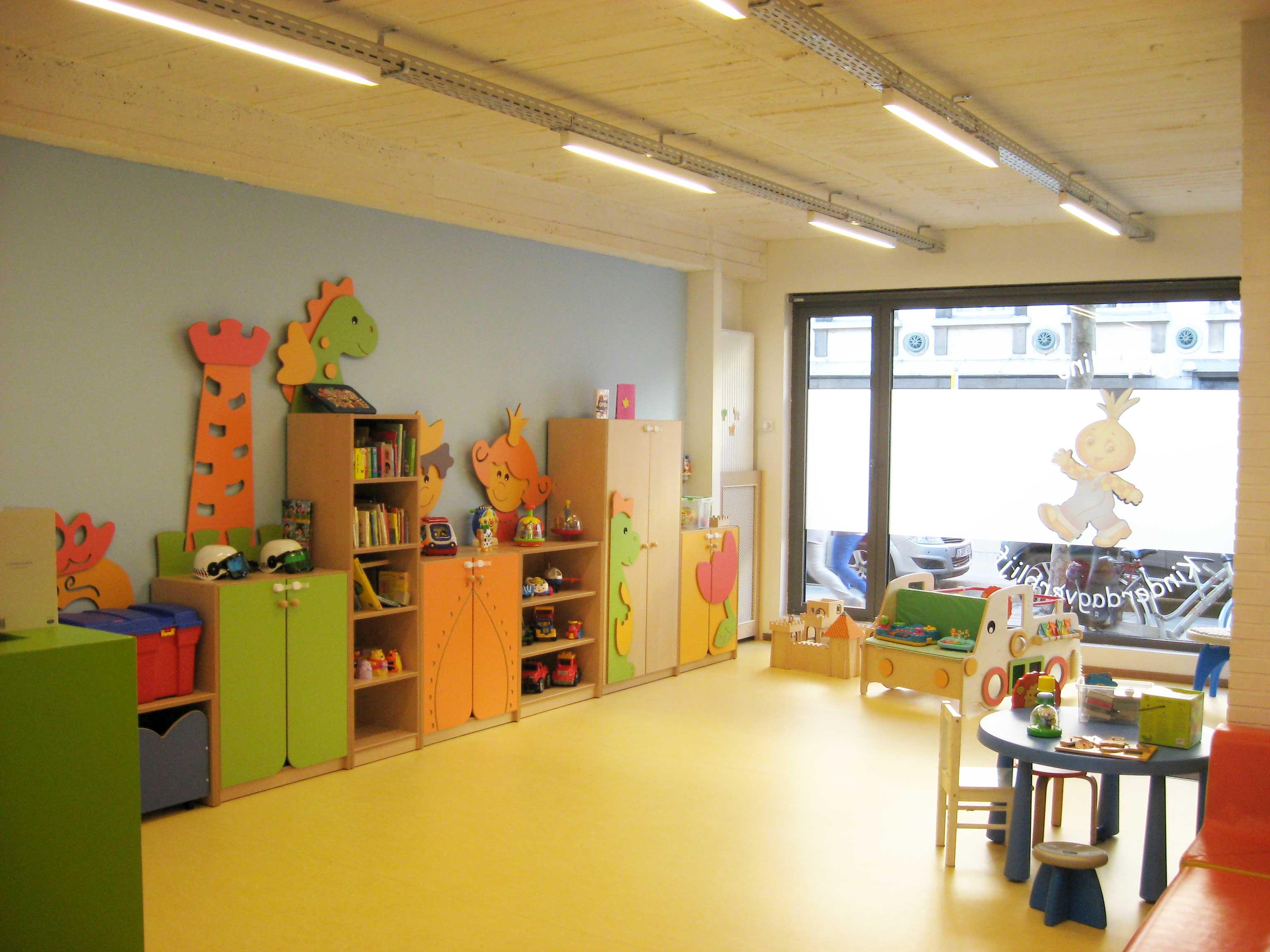 Speelruimte peuters Kinderdagverblijf Chipollino - Kinderopvang centraal in Antwerpen bij Rooseveltplaats. Groepsopvang, mini-creche, met herbruikbare luiers.
